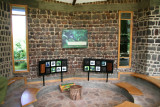 The very modern and informative visitor center at Mgahinga Gorilla National Park.