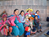 Traditional Andean costumes in Cusco
