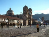 Cathedral and coblestone streets in Cusco