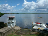 The busy river port of Iquitos