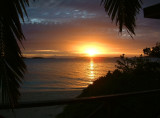 Sunrise from our fale