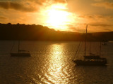 Sunset over the Port of Refuge Harbor