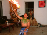 Fire dance at Pua's Restaurant Friday Barbecue