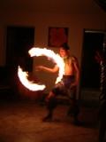 Fire dance at Pua's