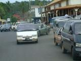 Rush hour in Neiafu -- Saturday morning