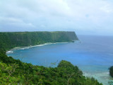 The northern shore of Vava'u Lahi has tall cliffs dropping off into the sea