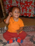 An adorable Tongan child in Neiafu