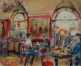 La mattina al Caffé Greco, by Stellario Baccellieri