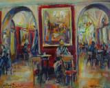 Scrittore al Caffé Greco, by Stellario Baccellieri