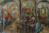 Le amiche al Caffé Greco, by Stellario Baccellieri