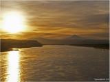 COLUMBIA RIVER & Mt HOOD AT SUNRISE