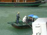 Tourists in rain