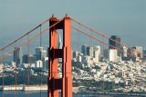 Transamerica Pyramid through Golden Gate Bridge