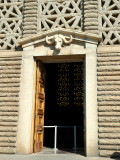 Entrance adorned with wild bufallo's head