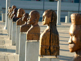 Carvings lined up