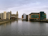 Princess Dock, Liverpool and the Liver Building
