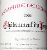 Francia   / Chateauneuf du Papes / 2003