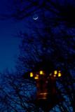 Bird Feeder with Crescent Moon
