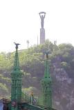 Liberty Statue over Liberty Bridge