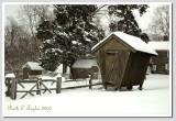Corncrib in Winter