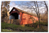 Last Light at Frankenfield Covered Bridge