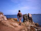 Rocky shore path