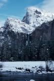 Bridalveil Falls in winter