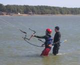 3/3/07 - First Kiteboarding Lesson at C. Slicks