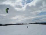 3/17/07 - Snowkiting for St. Patty's Day