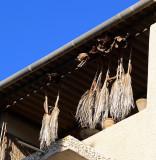 palm thatch drying