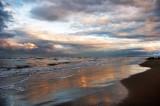 Sunset in Caspian Sea