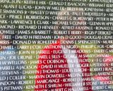 Tommy at the Vietnam Vet Wall in DC