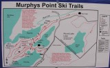 map of ski trails at Murphys Point Provincial Park