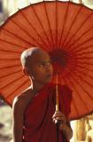 Monk at Pagan Temple, Myanmar
