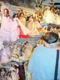 SARA LOVED THE SHOPS THAT LINE THE WHARF-THE DOLLS WERE PRETTY