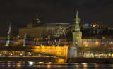 Big Moskvorecky bridge and the Kremlin. Moscow