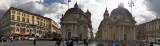 Piazza del Popola - S. Maria dei Miracoli e S. Maria in Montesanto. Rome