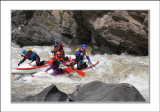 5 stage of Granite Canyon (5 class rapid). Catamaran crew: Sasha, Pasha, Andrei & Lev