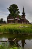 St. John the Divine wooden church on Ishna river