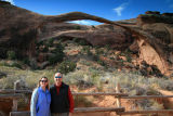 Ang & Dale at Landscape Arch (306 foot span)