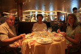 Breakfast in dining room on morning of disembarkation