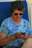Shirley's first experience with a BlackBerry