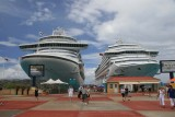 Crown Princess & Carnival Valor at St. Maarten