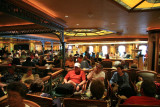 Waiting to disembark ship (Explorer's Lounge)
