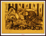Odalisque à la culotte de satin Rouge 1925