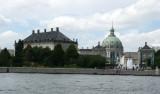 Behind Amalienborg Palace