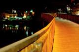 YARKON RIVER AT NIGHT