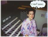 Liz after 1993 organ/trombone recital  ©  Liz Stanley