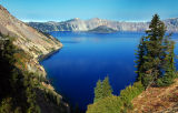 Crater Lake and Wizard Island from Sun Notch