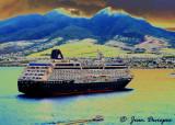 Cruise Ship sailing into Port